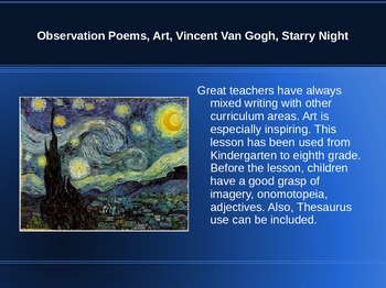 Seeing The World Through Different Eyes - Observation Poems, Starry Night
