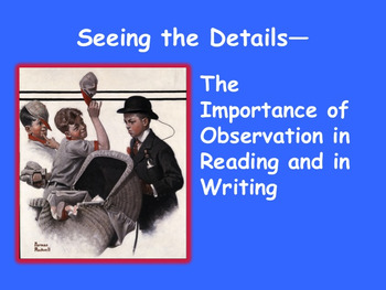 Seeing the Details Using Norman Rockwell's Art