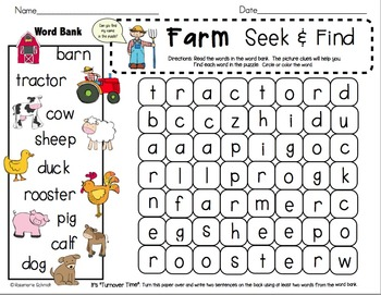Seek & Find Word Search K-1