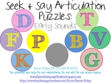 Seek & Say Articulation Puzzles: Early Sounds