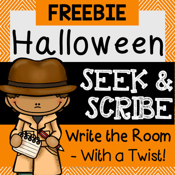 Seek & Scribe - Halloween {Write the Room with a Twist}