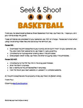 Seek & Shoot ABC Basketball - Letter Recognition