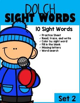 Winter Sight Words (Set 2)