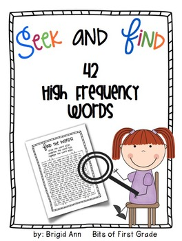 Seek and Find 42 High Frequency Words