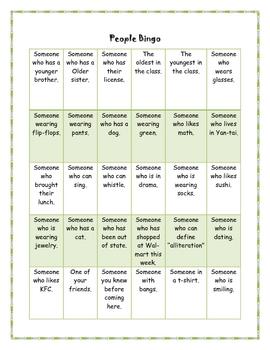Seek and Find Bingo