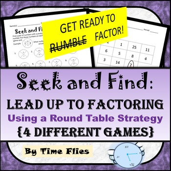 Get Ready for Factoring with Seek and Find!