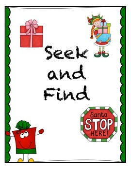 Seek and Find- Core French-Noel