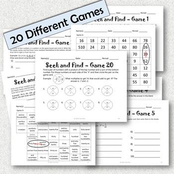 Seek and Find Math Games {20 Different Games}