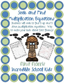 Seek and Find Multiplication Equations