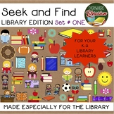 Seek and Find Picture Puzzles for School Library - 5 Primary Activities NO PREP