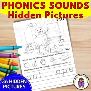 Seek and Find the Phonics Sounds - 36 Hidden Picture Scenes