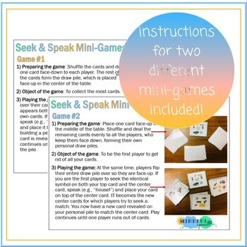 Seek & Speak Speech Therapy Articulation & Phonology Game S Stridency Deletion