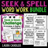 Word Work Printables (with Editable Templates)