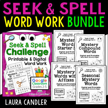Word Work Activity Worksheets and Spelling Game (with Editable Templates)