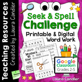 Weekly Word Work with Printable and Digital Google Classroom Resources