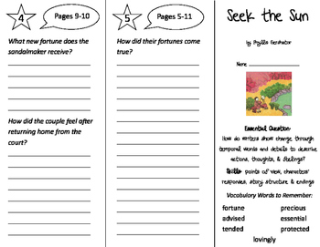 Seek the Sun Trifold - ReadyGen 2nd Grade Unit 4 Module A