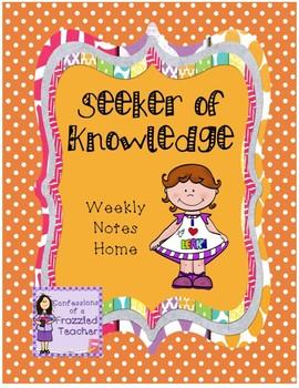 Seeker of Knowledge Weekly Letters (Scott Foresman Reading Street)