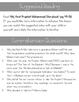 Seerah of the Prophet (SAW) Lesson 1-2