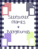 Seersucker Frames and Backgrounds {personal & commercial use}