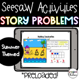 Seesaw Addition and Subtraction Story Problems within 10-