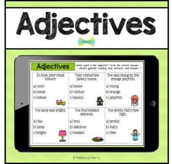 Seesaw Activities - Adjectives - Language & Grammar