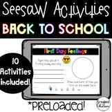 Seesaw Activities: Back to School