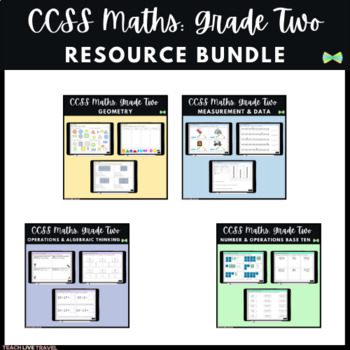 Seesaw Activities - CCSS - Grade Two Math Bundle - 226 Pages - Online Learning