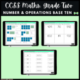 Seesaw Activities - CCSS - Grade Two Number & Operations in Base Ten  - Math