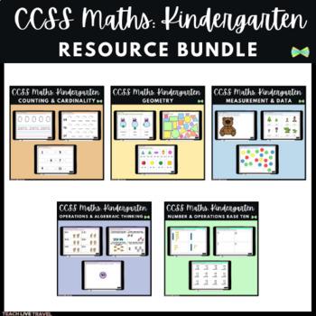 Seesaw Activities - CCSS - Kindergarten Bundle - 253 Pages - Kindergarten Math