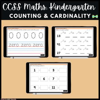 Seesaw Activities - CCSS - Kindergarten Counting & Cardinality - Math
