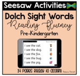 Seesaw Activities Templates - Digital Dolch Sight Word Reading Fluency - Pre-K