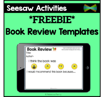 Seesaw Activities - *FREEBIE* - Book Review Templates - Online Learning