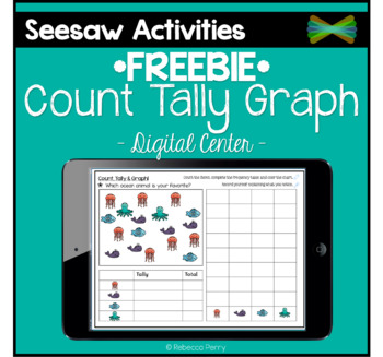 Seesaw Activities - *FREEBIE* - Count, Tally, Graph