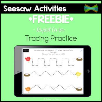 Seesaw Activities - *FREEBIE* - Tracing Practice