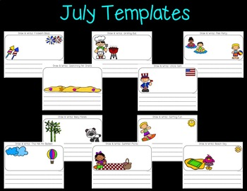 Seesaw Activities: July Draw and Write