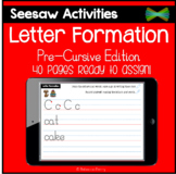 Seesaw Activities - Letter Formation - Pre Cursive Edition