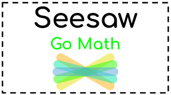 Seesaw Activities: Math