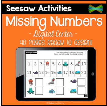 Seesaw Activities - Missing Number Puzzles