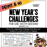 New Year's Challenges   For Use with Seesaw