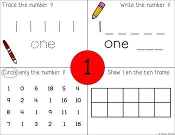 Seesaw Activities: Numbers 1-10 FREEBIE!