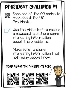 Presidents' Day Challenges   For Use with Seesaw