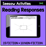 Seesaw Activities Templates - Reading Responses - Guided Reading