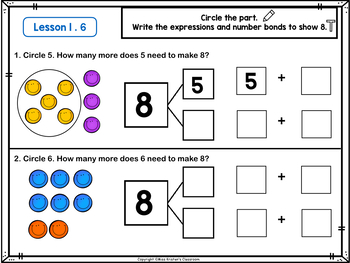 Seesaw Activities Set: Engage NY/Eureka 1st Grade Module 1 Topic B Lessons 4-8
