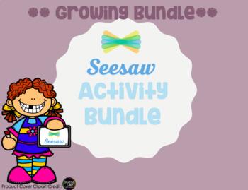 Seesaw Activity Templates: Bundle