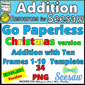 Seesaw Addition  Using A Ten Frame Png Templates English