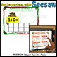 Seesaw Addition 0-10 Using a Ten Frame PNG Templates Spanish Christmas Version
