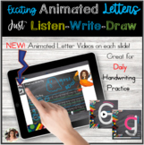 Seesaw Animated Letters Writing Practice Distance Learning