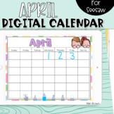 Seesaw Calendar   April Digital Calendar