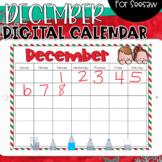 Seesaw Calendar | December Digital Calendar