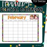 Seesaw Calendar   February Digital Calendar